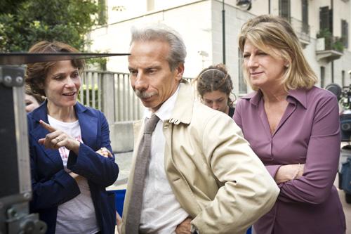 Sul set di Eva dopo Eva con Donatella Finocchiaro, Raul Cremona e la regista Sophie Chiarello